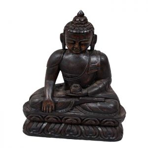 Wooden Hand Carved Buddha Statue
