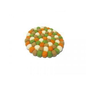 Orange Green Felt Mat