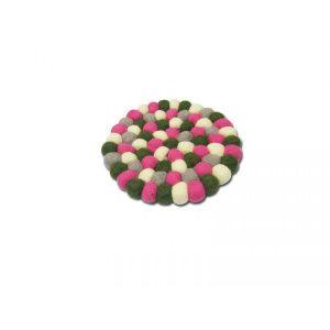 Pink Green Felt Mat