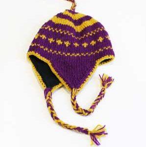 Woollen Winter Hat Purple Colour