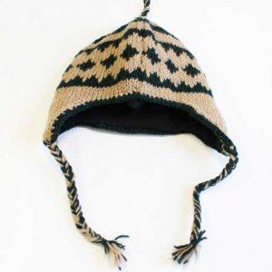 Woollen Winter Hat Seashell Green